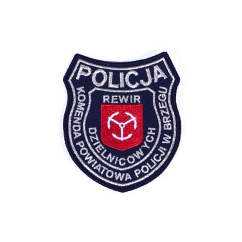 Emblemat policji dzielnicowej w Brzegu