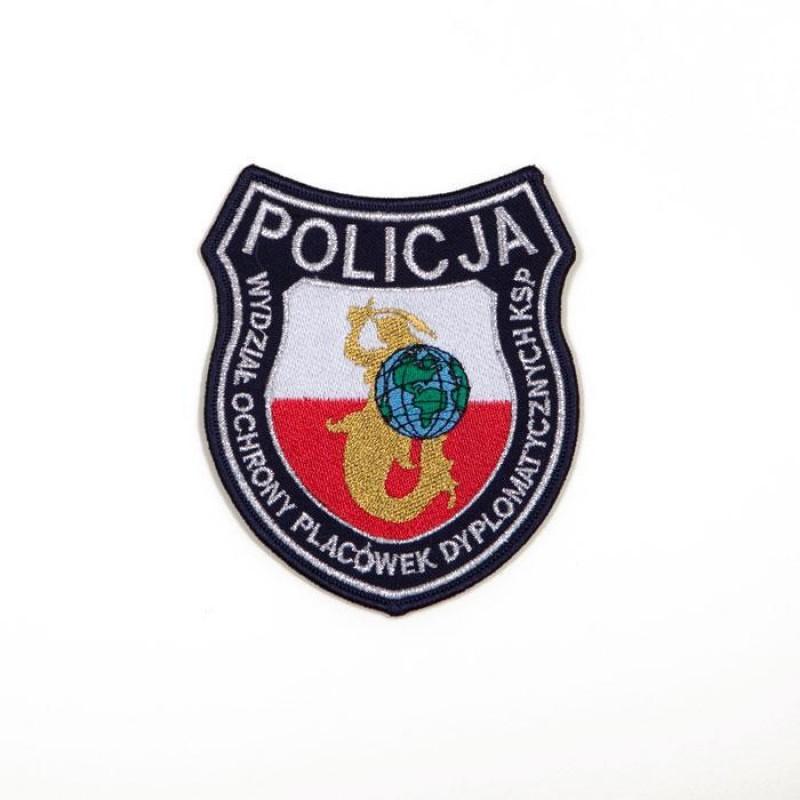 emblemat Policji Wydziału Ochrony Placówek dyplomatycznych KSP