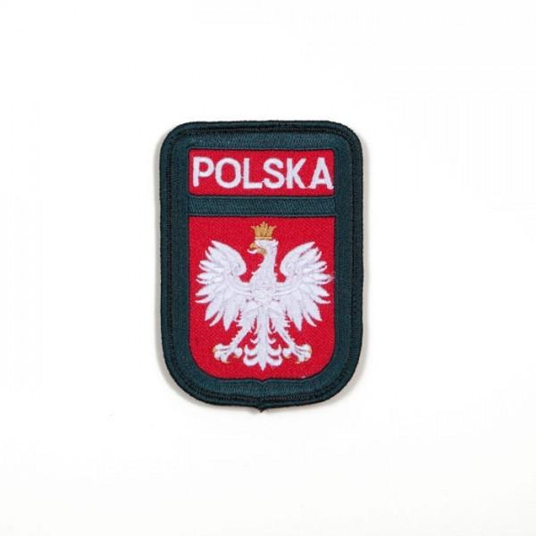 Emblemat Wojskowy z Godłem Polskim i Napisem Polska