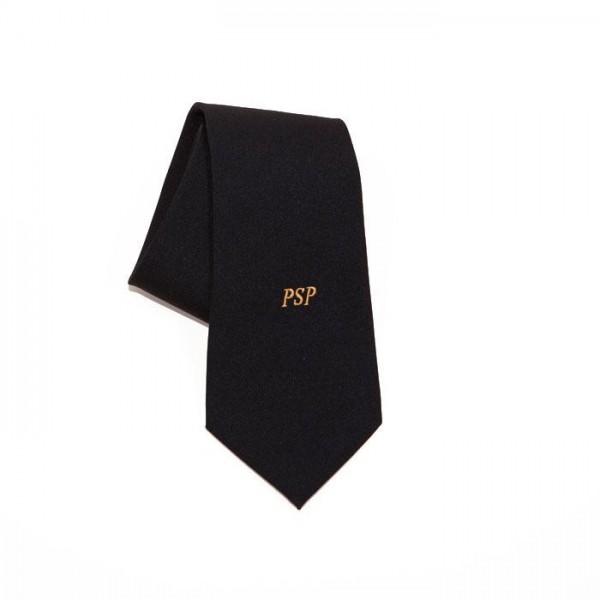 Krawat z haftowanym napisem PSP