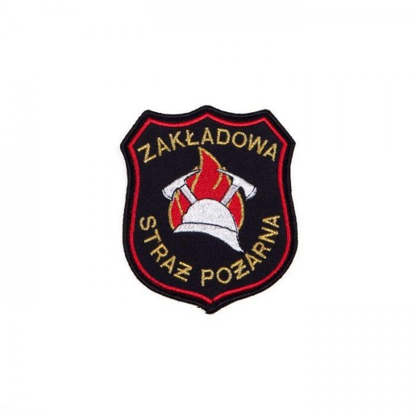 Emblemat naramienny Zakładowej Straży Pożarnej