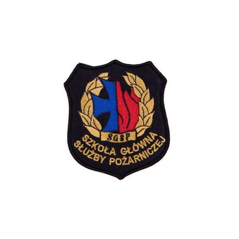 Emblemat naramienny Szkoły Głównej Służby Pożarniczej