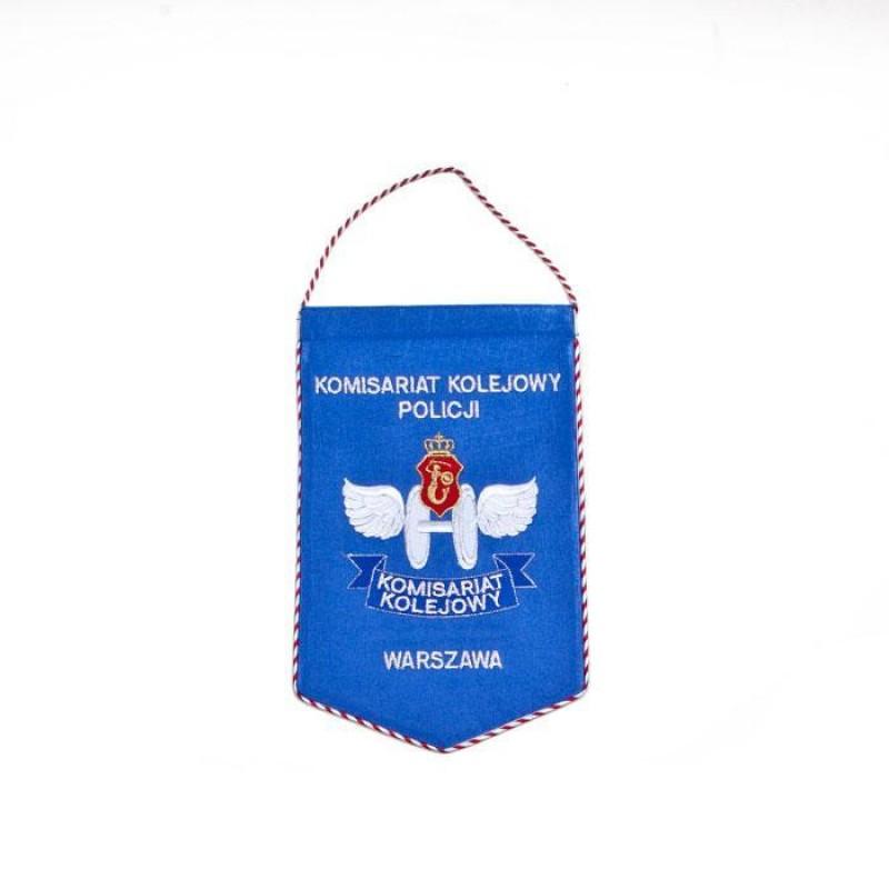 Proporzec Komisariat Kolejowy Policji